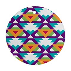 Triangles and other shapes pattern Round Ornament (Two Sides)