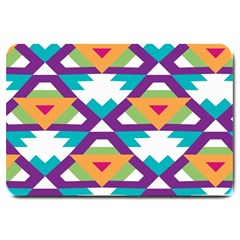 Triangles And Other Shapes Pattern Large Doormat