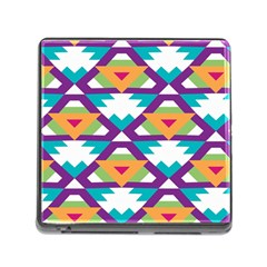 Triangles and other shapes pattern Memory Card Reader (Square)