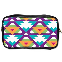 Triangles and other shapes pattern Toiletries Bag (Two Sides)