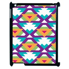 Triangles and other shapes pattern Apple iPad 2 Case (Black)