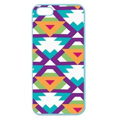 Triangles and other shapes pattern Apple Seamless iPhone 5 Case (Color)