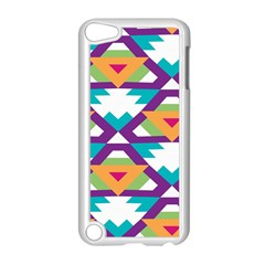 Triangles and other shapes pattern Apple iPod Touch 5 Case (White)