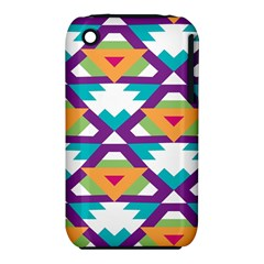 Triangles and other shapes pattern Apple iPhone 3G/3GS Hardshell Case (PC+Silicone)
