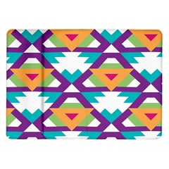 Triangles and other shapes pattern Samsung Galaxy Tab 10.1  P7500 Flip Case