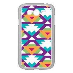 Triangles and other shapes pattern Samsung Galaxy Grand DUOS I9082 Case (White)