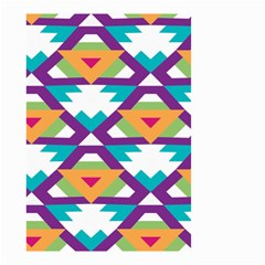 Triangles And Other Shapes Pattern Small Garden Flag