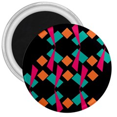 Shapes in retro colors  3  Magnet
