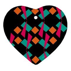 Shapes in retro colors  Ornament (Heart)