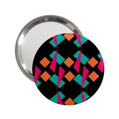 Shapes in retro colors  2.25  Handbag Mirror