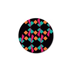 Shapes in retro colors  Golf Ball Marker (10 pack)