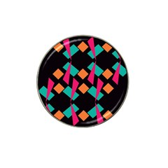 Shapes In Retro Colors  Hat Clip Ball Marker (10 Pack)