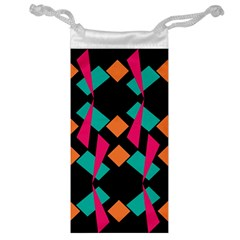 Shapes in retro colors  Jewelry Bag