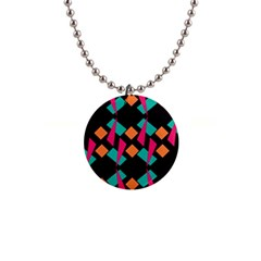 Shapes in retro colors  1  Button Necklace