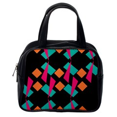 Shapes in retro colors  Classic Handbag (One Side)