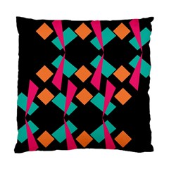 Shapes in retro colors  Standard Cushion Case (Two Sides)