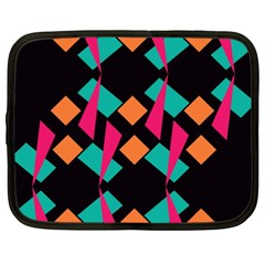 Shapes in retro colors  Netbook Case (XXL)