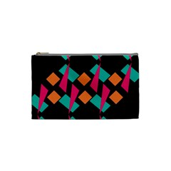 Shapes in retro colors  Cosmetic Bag (Small)