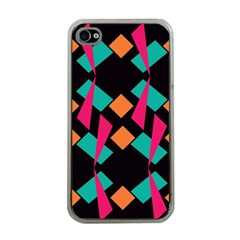 Shapes in retro colors  Apple iPhone 4 Case (Clear)