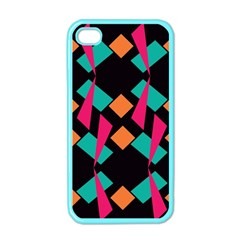 Shapes in retro colors  Apple iPhone 4 Case (Color)