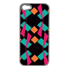 Shapes in retro colors  Apple iPhone 5 Case (Silver)