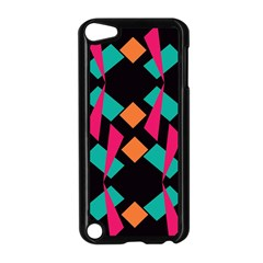 Shapes in retro colors  Apple iPod Touch 5 Case (Black)