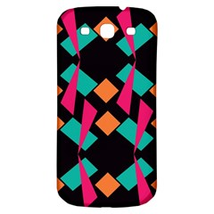 Shapes in retro colors  Samsung Galaxy S3 S III Classic Hardshell Back Case