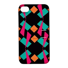 Shapes in retro colors  Apple iPhone 4/4S Hardshell Case with Stand