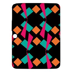 Shapes in retro colors  Samsung Galaxy Tab 3 (10.1 ) P5200 Hardshell Case