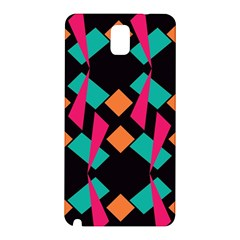 Shapes in retro colors  Samsung Galaxy Note 3 N9005 Hardshell Back Case