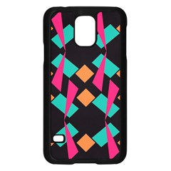 Shapes In Retro Colors samsung Galaxy S5 Case