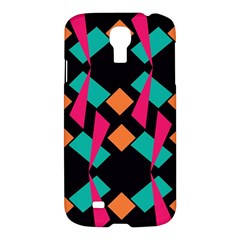Shapes in retro colors 	Samsung Galaxy S4 I9500/I9505 Hardshell Case $10