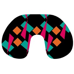 Shapes In Retro Colors  Travel Neck Pillow