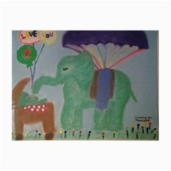 Elephant Delighted With Baby Canvas 16  x 16