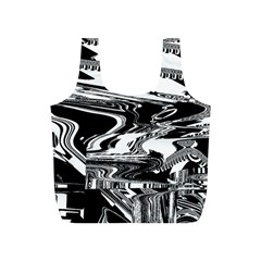 Bw Glitch 1 Full Print Recycle Bags (S)
