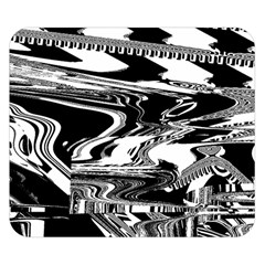 Bw Glitch 1 Double Sided Flano Blanket (Small)