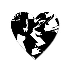Bw Glitch 2 Heart Magnet