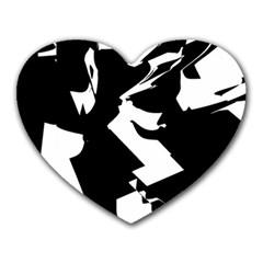 Bw Glitch 2 Heart Mousepads