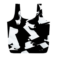 Bw Glitch 2 Full Print Recycle Bags (L)