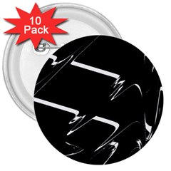 Bw Glitch 3 3  Buttons (10 pack)