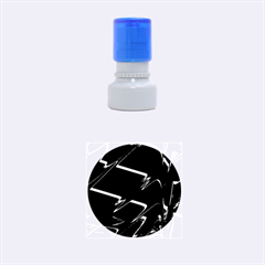Bw Glitch 3 Rubber Round Stamps (small)