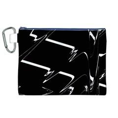 Bw Glitch 3 Canvas Cosmetic Bag (XL)