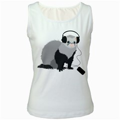 Funny Music Lover Ferret Women s Tank Tops
