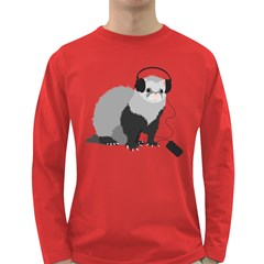 Funny Music Lover Ferret Long Sleeve Dark T-Shirts