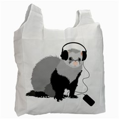 Funny Music Lover Ferret Recycle Bag (One Side)