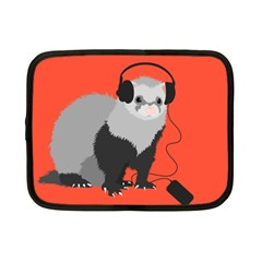 Funny Music Lover Ferret Netbook Case (Small)