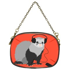 Funny Music Lover Ferret Chain Purses (one Side)