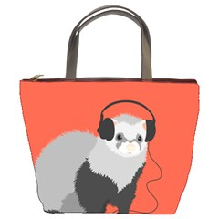 Funny Music Lover Ferret Bucket Bags