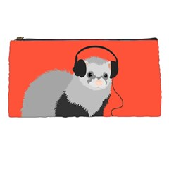 Funny Music Lover Ferret Pencil Cases