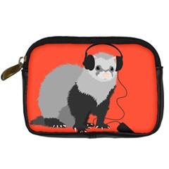 Funny Music Lover Ferret Digital Camera Cases